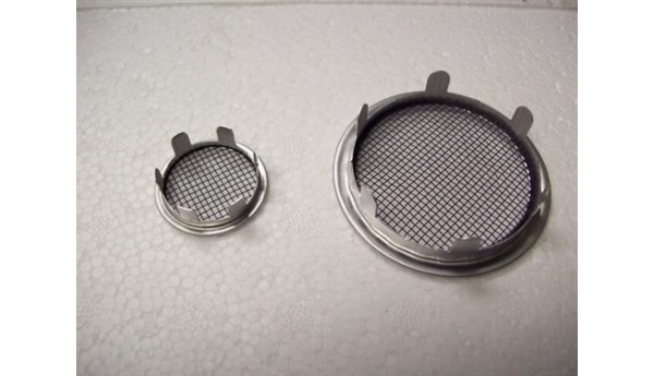 "Vents 2"" aluminum with tabs PAIR"