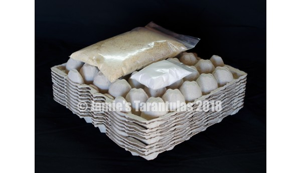 Feeder Refill Kit: 10 egg crate flats, 1lb chow, 3oz water crystals FREE SHIPPING